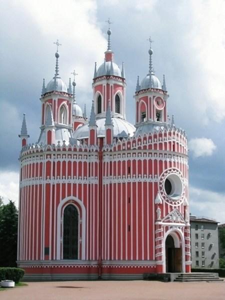 Фотография достопримечательности. Чесменская церковь в Санкт-Петербурге