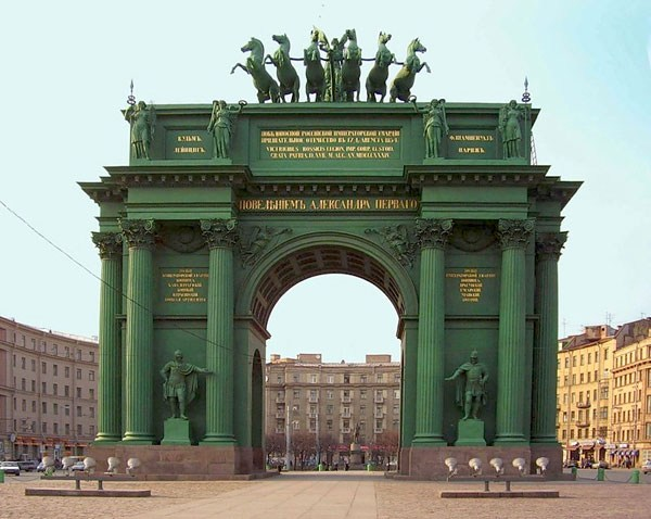 Фотография достопримечательности. Нарвские ворота в Санкт-Петербурге