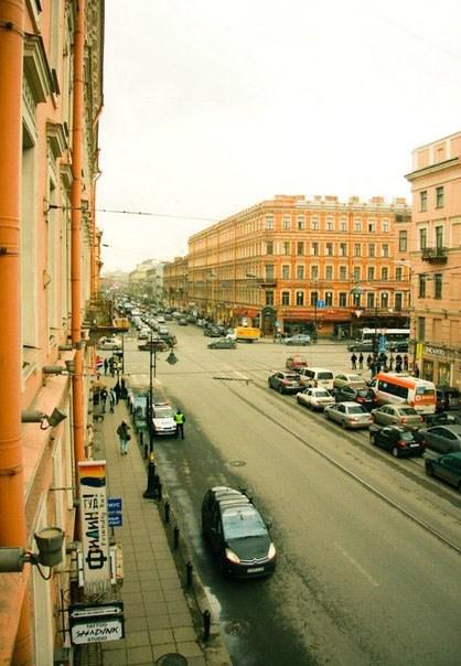 Хостел Alpha Hostel, вид из окна