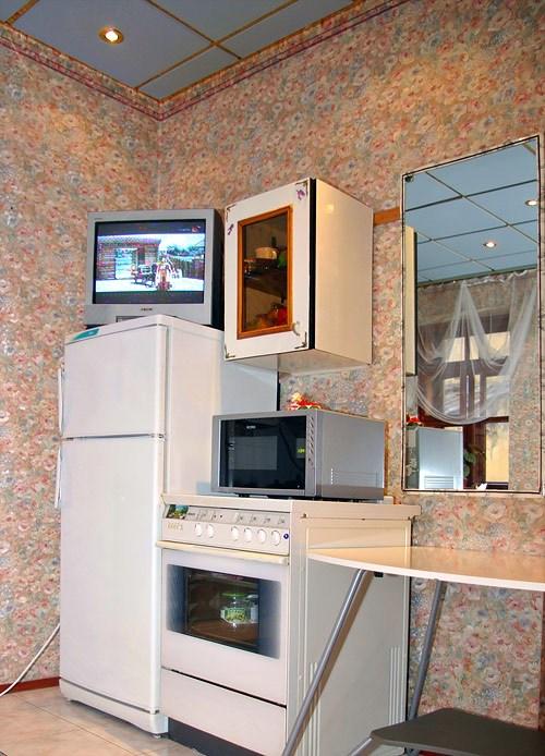Кухня в гостинице Юлана в Орловском переулке, Санкт-Петербург