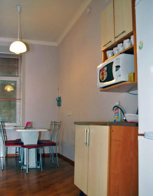 Кухня в гостинице Юлана в Фурштатской, Санкт-Петербург