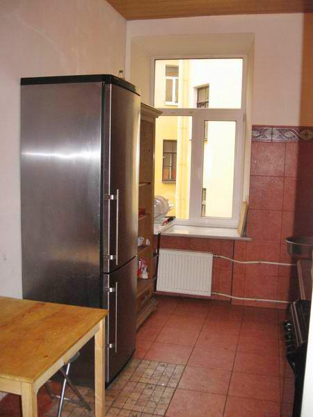 Кухня в хостеле EuroHostel (ЕроХостел) на Фурштатской, Петербург