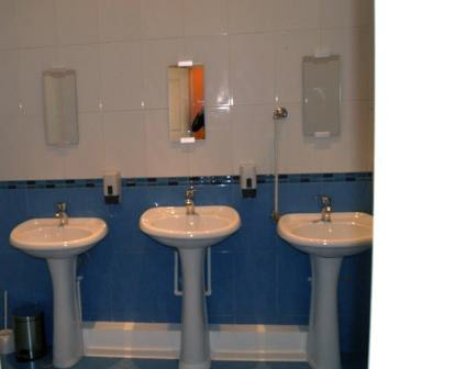 Ванная комната. ЕвроХостелСпб на Некрасова в центре Петербурга