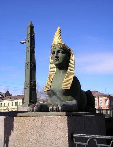 Фотография достопримечательности. Египетский мост в Санкт-Петербурге