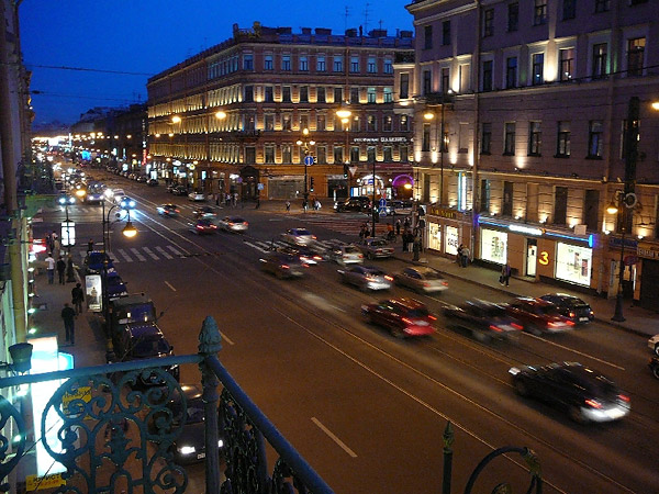Хостел Alpha Hostel в Санкт-Петербурге, вид из окна