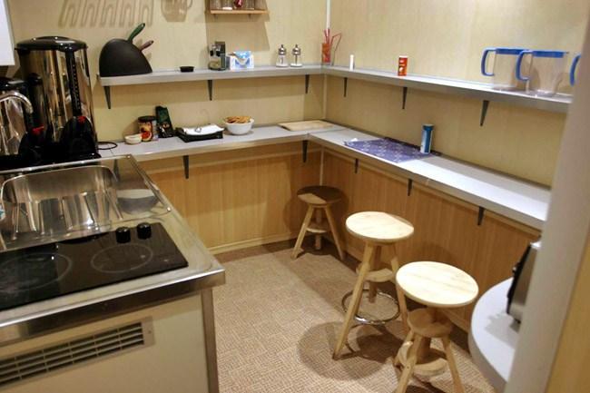 Кухня питерского хостела Норд