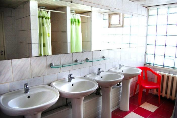 Ванная комната в Питер Хостеле, Санкт-Петербург