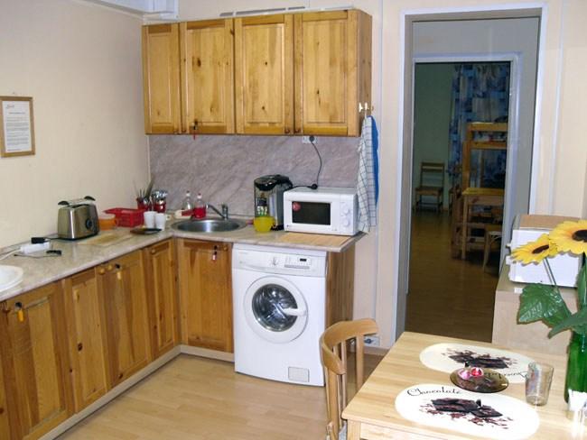 Кухня в хостеле Виктория, Санкт-Петербург