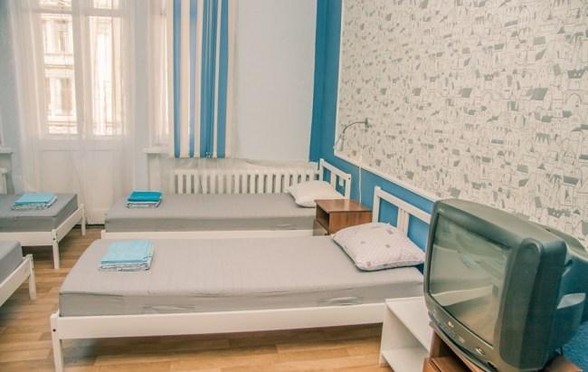 6-местный номер в хостеле Староневский, Санкт-Петербург