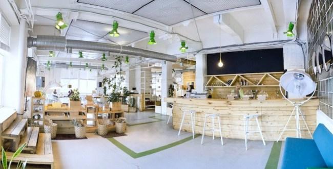 Location Hostel Лиговский 74, Кофейня Зеленая Комната