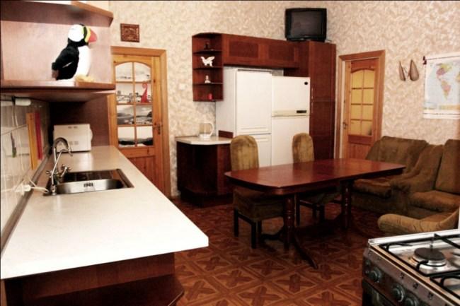 Хостел EuroFriends в Санкт-Петербурге, кухня столовая