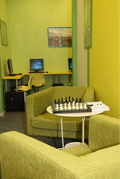 Гостиная в хостеле EuroHostelSpb, Санкт-Петербург